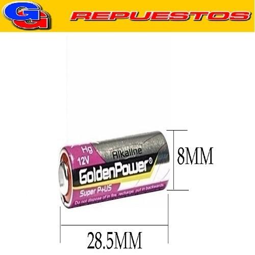 PILA A27 - 12V MN27/G27A/A27/27A/L828/EL812/EL-8212/CA22/LR27/E27A/V27A/V27PX/V27GA/L728/L828/WE27A/UM27A/LR27A/K27A/27AE/A27S/P27GA/EPX27/KX27/RPX27/HS3/NR43/EL812/EL8212/R27A