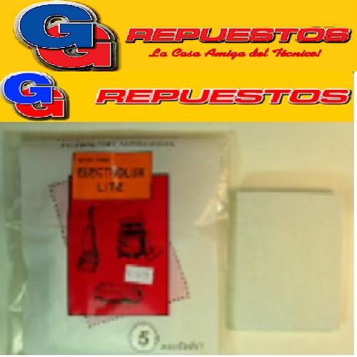 MICRO FILTRO ASPIRADORA RECTANGULAR ELECTROLUX LITE X5  9,5 CM X 11 CM