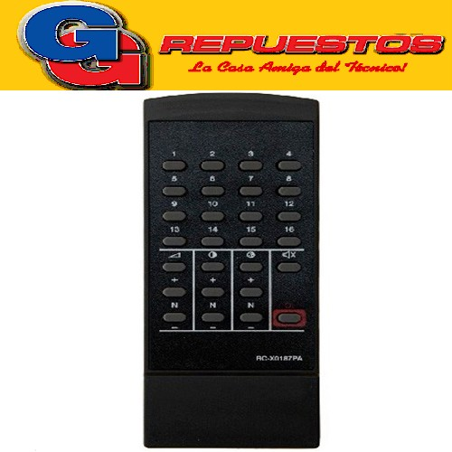 CONTROL REMOTO TV RC-X0187PA SHARP (2826) PHILCO 16 CANALES MP1036
