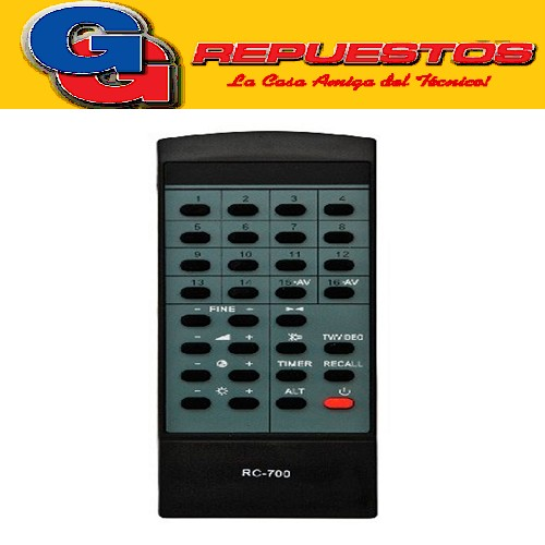 CONTROL REMOTO CONVERSOR GENERAL ELECTRIC.RC700 2772