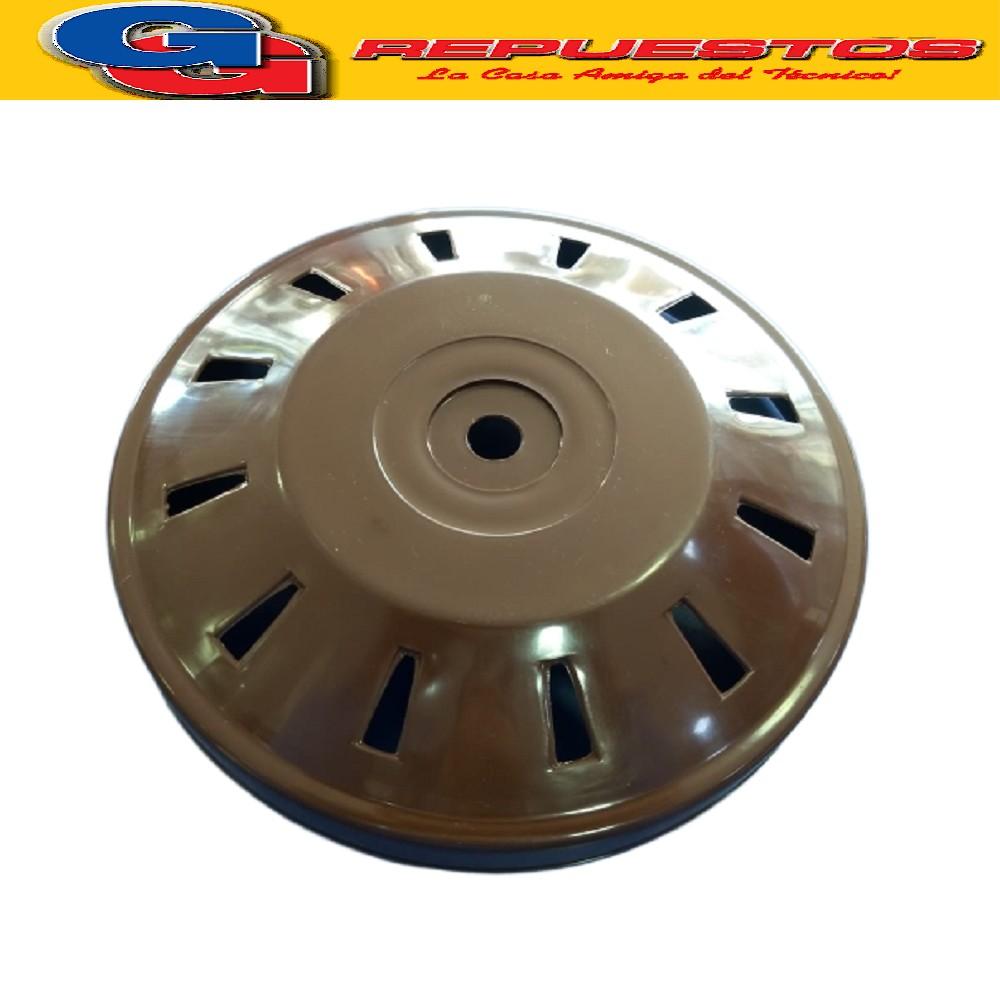 CAPUCHON CUBREMOTOR INFERIOR VENTILADOR DE TECHO MARRON DIAMETRO EXTERIOR 22.5 CM DIAMETRO INTERIOR 22 CM ALTO TOTAL 5.5 CM