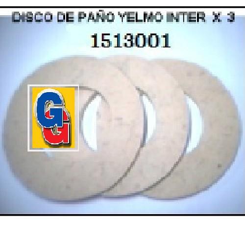 DISCO DE PAÑO ENCERADORA YELMO INTER PACK X 3 LUSTRA