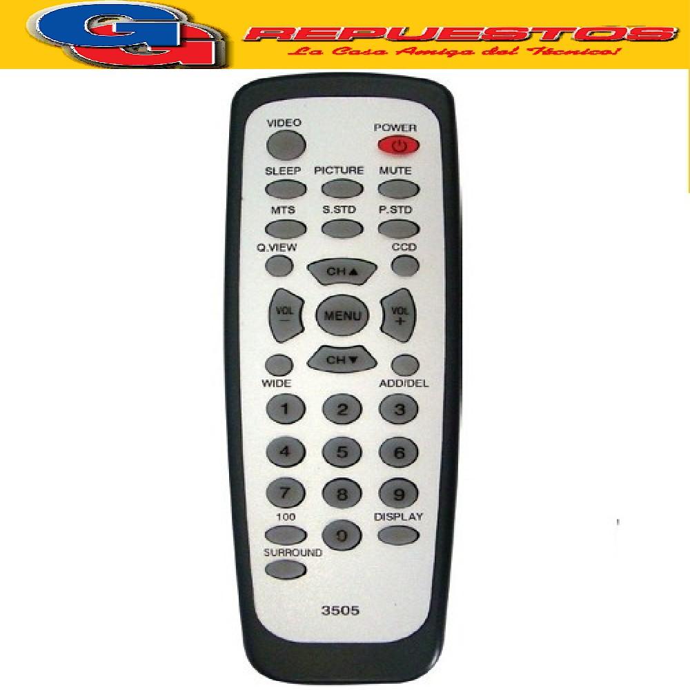 CONTROL REMOTO TV PHILCO SEIKO 3505 R6505