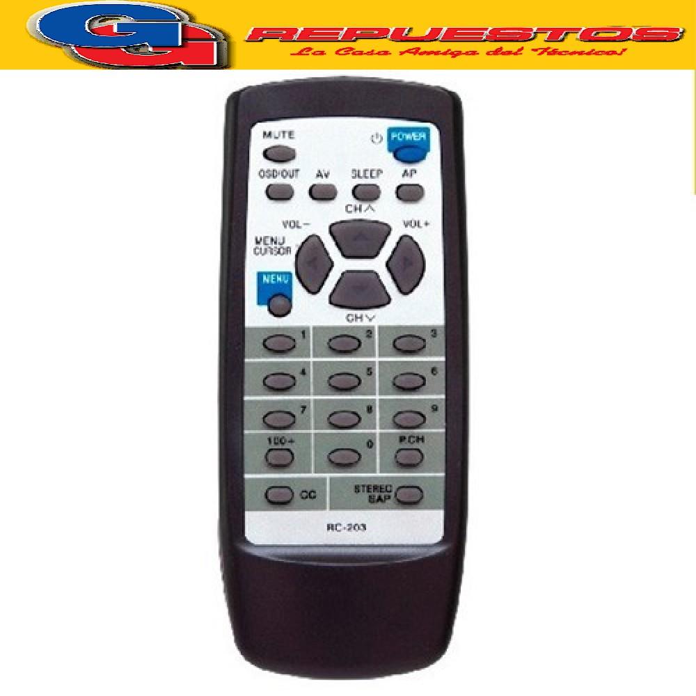 CONTROL REMOTO TOP HOUSE RC203 2891 ANDA IGUAL AL RC201