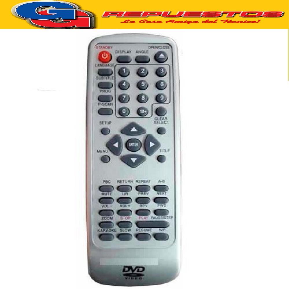 CONTROL REMOTO DVD GLOBAL HOME DVD836 2803