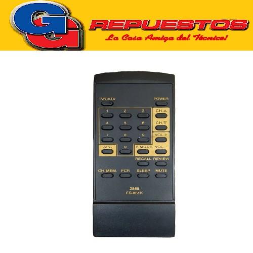 CONTROL REMOTO GOLDSTAR FS051K 2898