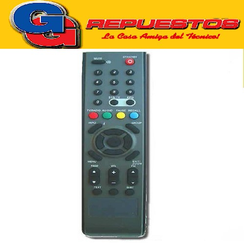 CONTROL REMOTO CONVERSOR TELERED/MULTICANAL R6521 3521