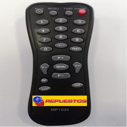 CONTROL REMOTO TV NOBLEX MP1034 NFSAA