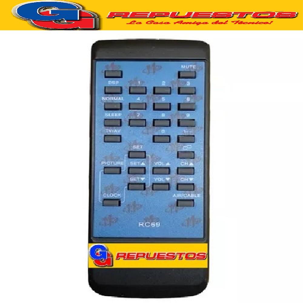 CONTROL REMOTO TV BROKSONIC RC69 2652 MP1038