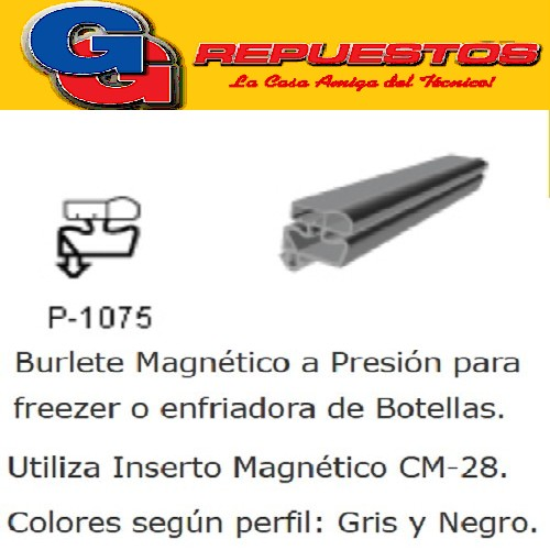 BURLETE PARA HELADERA Ang.P/1075 1420 x 720mm. A PRESION GRIS