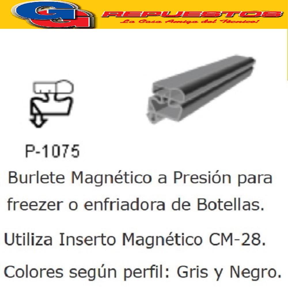 BURLETE PARA HELADERA Ang.P/1075 1420 x 720mm. A PRESION NEGRO