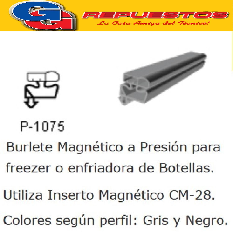 BURLETE PARA HELADERA Ang.P/1075 1850 x 800mm. A PRESION GRIS