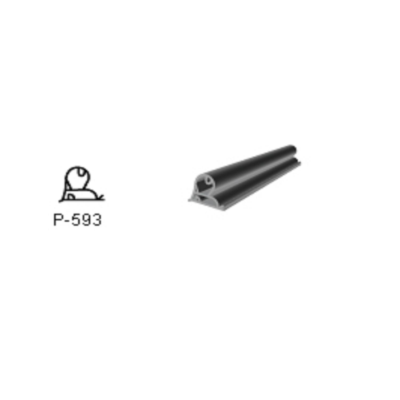 BURLETE PARA HELADERA Ang. P-0593   1450 x 750mm GRIS PS93 PRA FREEZER