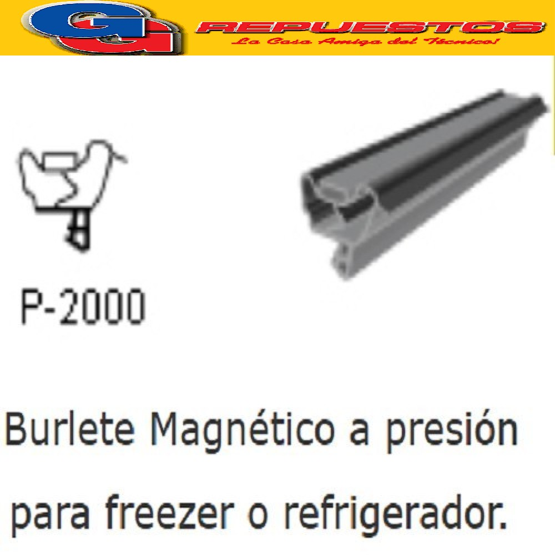 BURLETE PARA HELADERA Ang. P-2000   1450 x 750mm BLANCO WHIRLPOOL