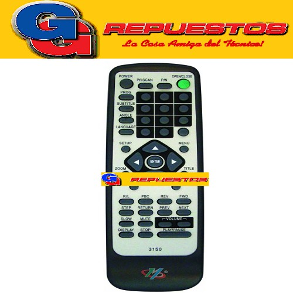 CONTROL REMOTO DVD DURABRAND  DB858 3150