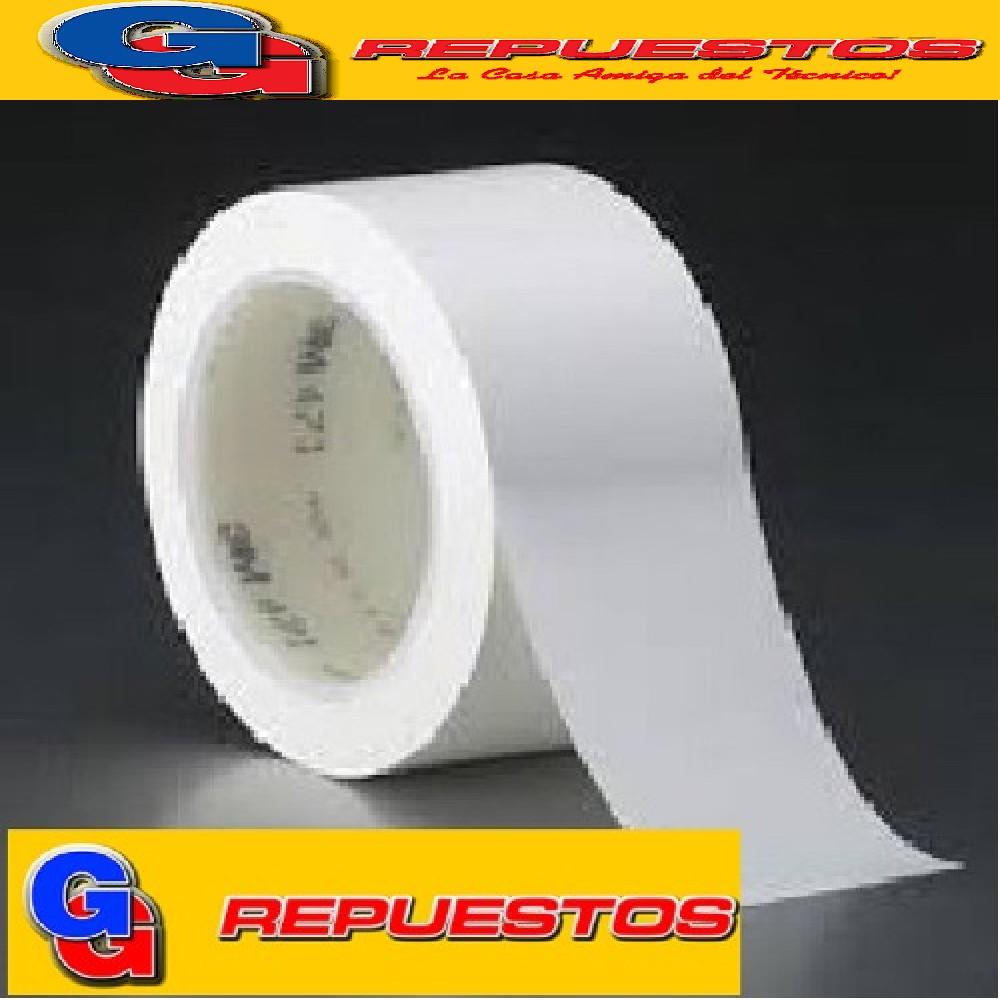 CINTA PLASTICA BLANCA SIN ADHESIVO -130micr-20mx48mm