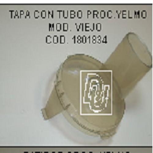 TAPA BOLS PROCESADORA YELMO MOD/VIEJO CON TUBO S/CONJ.