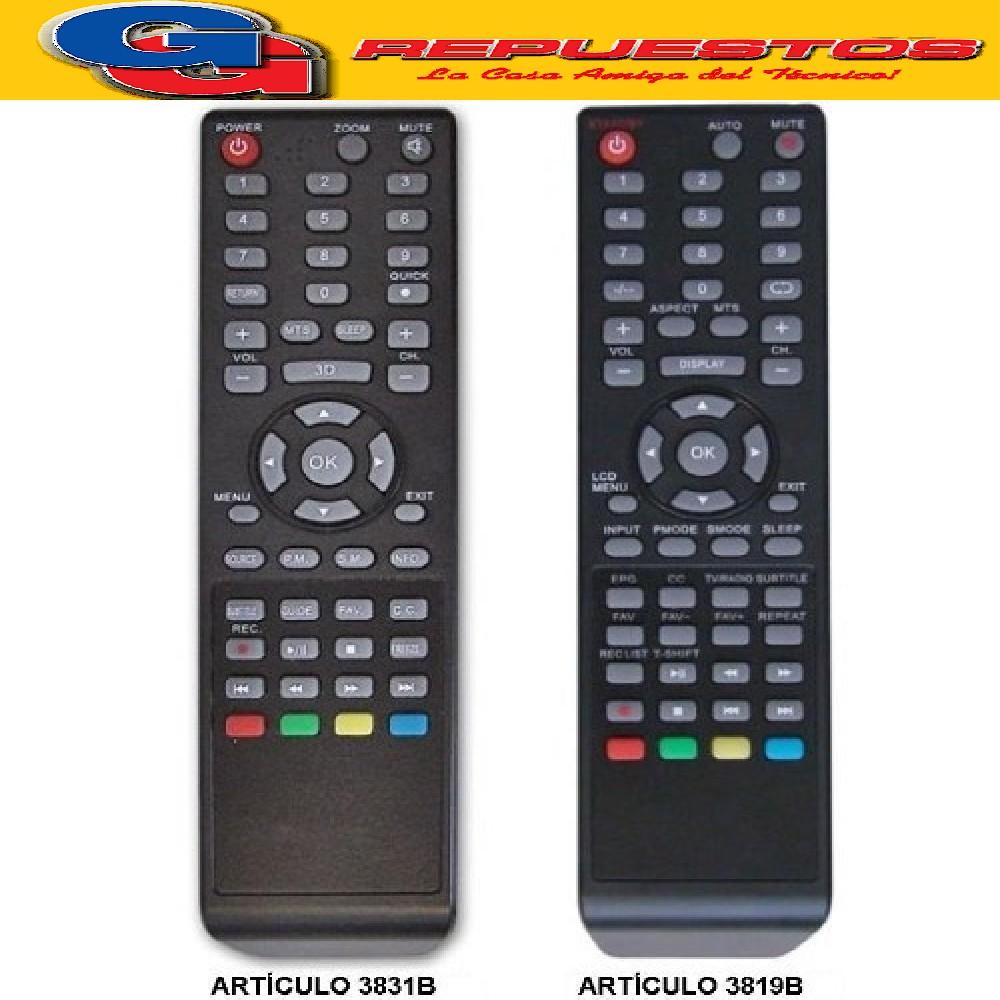 CONTROL REMOTO LED LCD KEN BROWN / ADMIRAL TONOMAC 3819 R6819