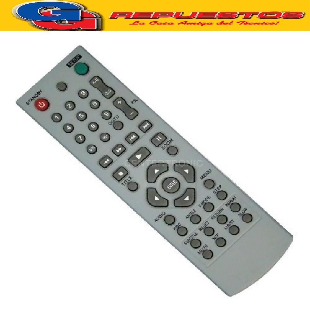 CONTROL REMOTO DVD HOWLAND (3148) DVD257 CITECH DP749B