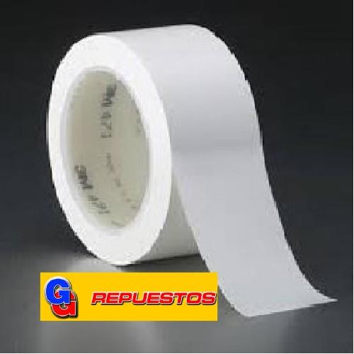 CINTA PLASTICA BLANCA 70MM X 0,12 mm X 20 Mts
