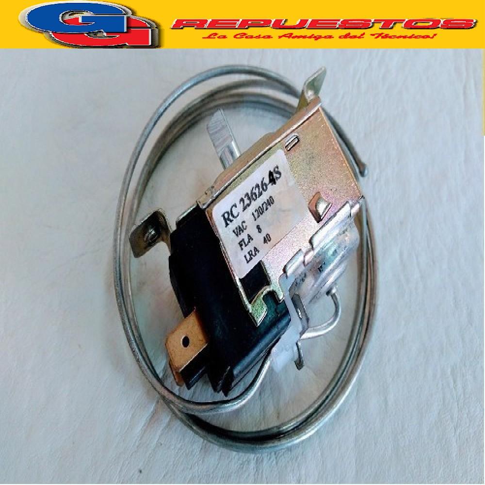 TERMOSTATO TIPO RC 23626-4S / 2 FRIOS / REEMP. TF9 KENT- 2 CONTACTOS MEDIA CAÑA (+3.5-13.5_-17.6_-22) CAPILAR 0.9 (REEMPLAZA 22027/24001) REEMPLAZA RC-22872