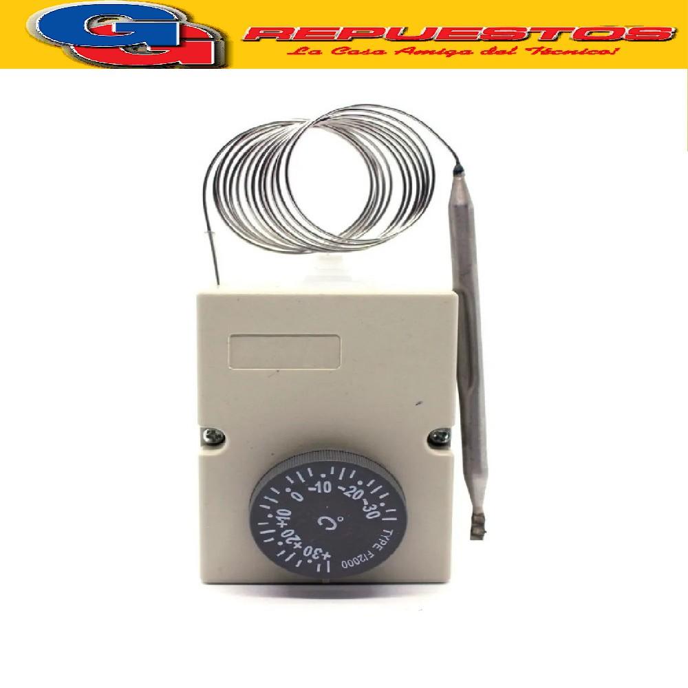 TERMOSTATO AMBIENTE COMERCIAL TIPO DANFOSS (-30+30ºC) F2000 BULBO LARGO