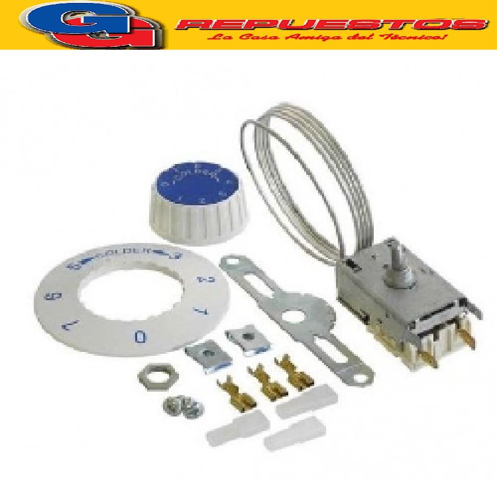 TERMOSTATO VC1- K50-P1110 (+2.2-14_-22.5) 2 CONTACTOS MEDIA CAÑA CON TUERCA Y ACCESORIOS CAPILAR 1.2 M