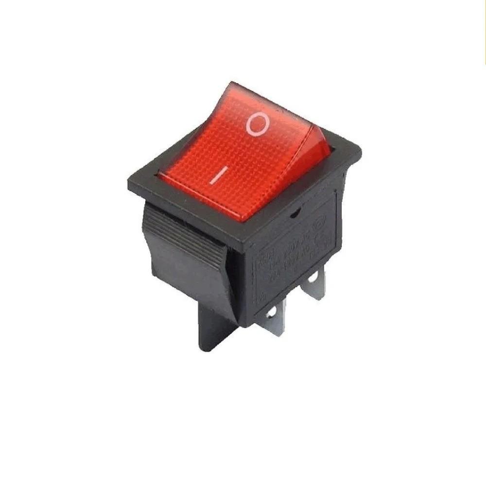 LLAVE TECLA 4 CTOS 15A 250 V C/NEON CONTACTOS DE PLATA