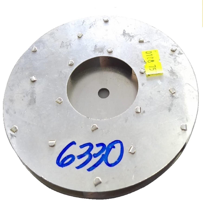 TURBINA ASPIRADORA YELMO (2001) ALUMINO GIRO HORARIO 125 MM DIAMETRO EXTERIOR Y 8MM DE EJE , ALTURA 8 mm