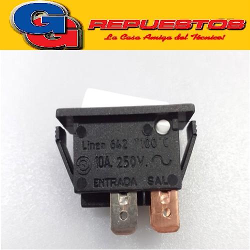 LLAVE PULSADORA 6 AMP. BIPOLAR BORDEADORA