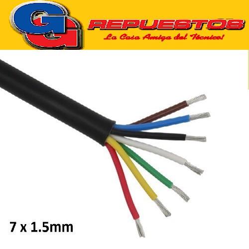 CABLE TPR TIPO TALLER 7 X 1.5mm POR METRO (ENVAINADO NEGRO)