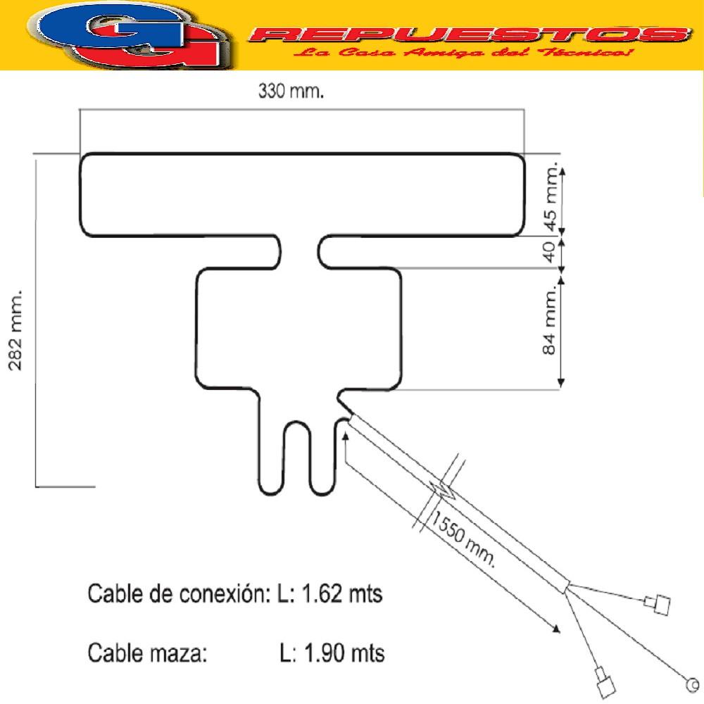 RESISTENCIA ALUMINIO HELADERA PHILLIPS IDEM 1107 ARB357-NVA.-1110 220V 20.6W