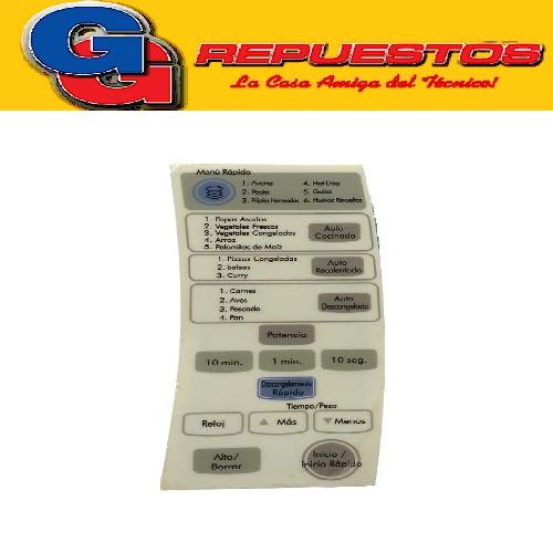 TECLADO MICROONDAS WHIRLPOOL MD190  WMG26 3309