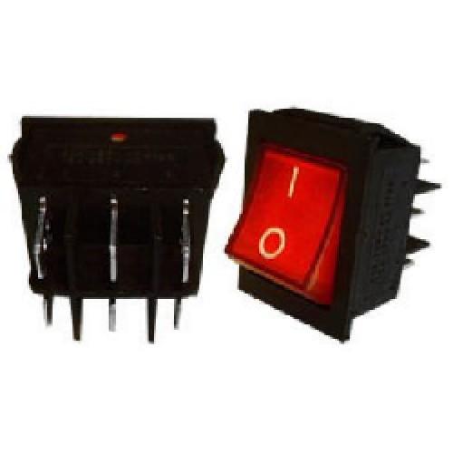 LLAVE TECLA 6 CTOS 15 A 250 V C/NEON IMP