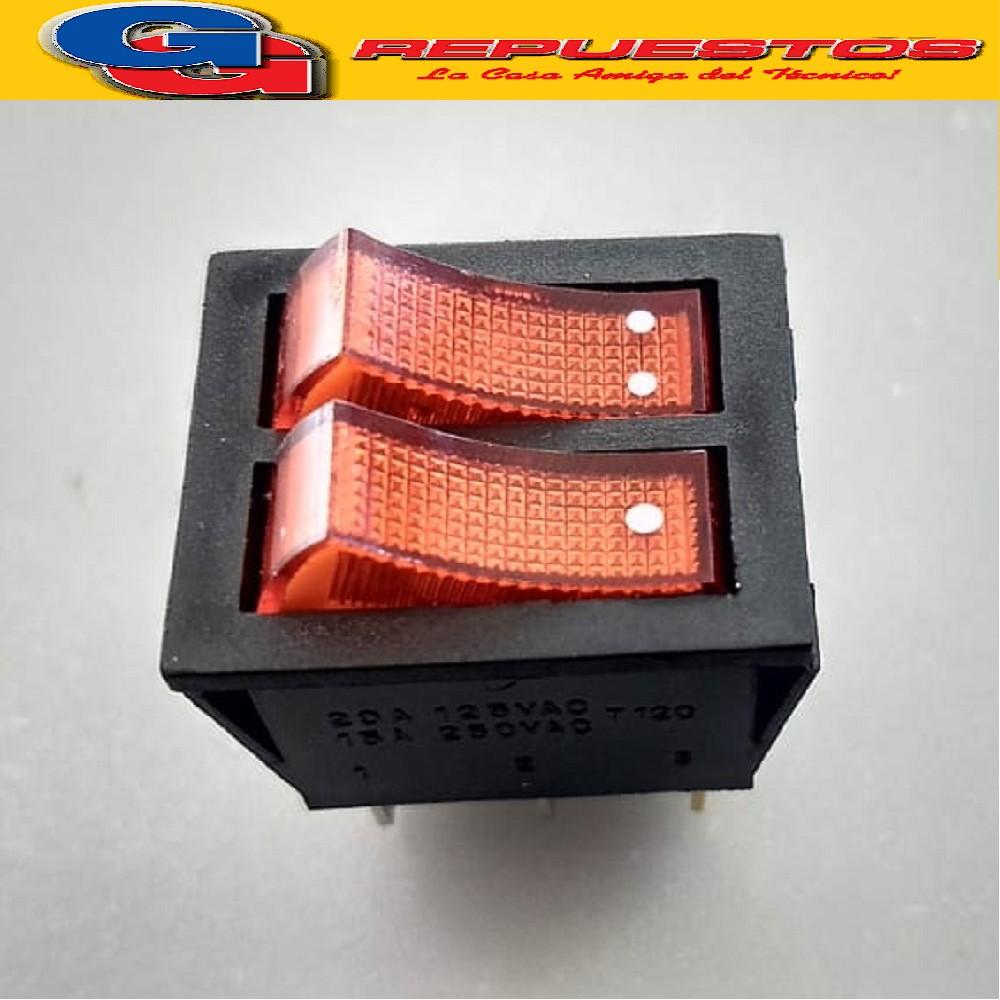 LLAVE DOBLE C/LUZ PARA RADIADOR DE ACEITE 16 AMPER