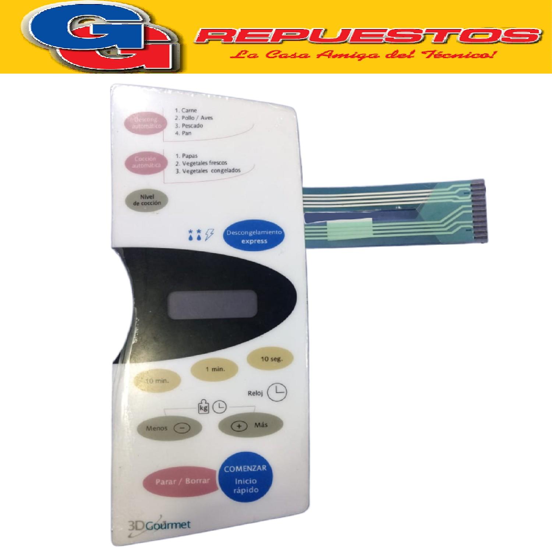 TECLADO MICROONDAS MD211 BGH 16360