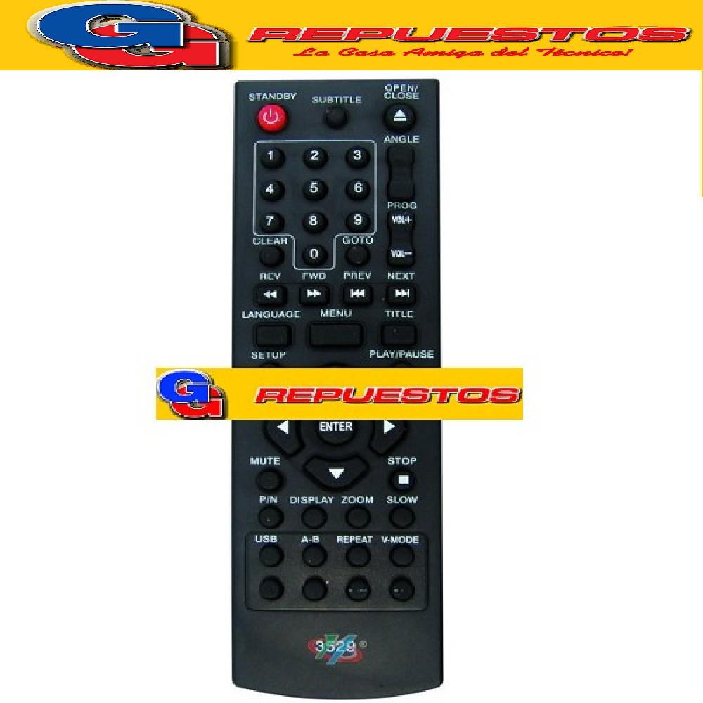 CONTROL REMOTO DVD BGH 2695 CON USB (3529)