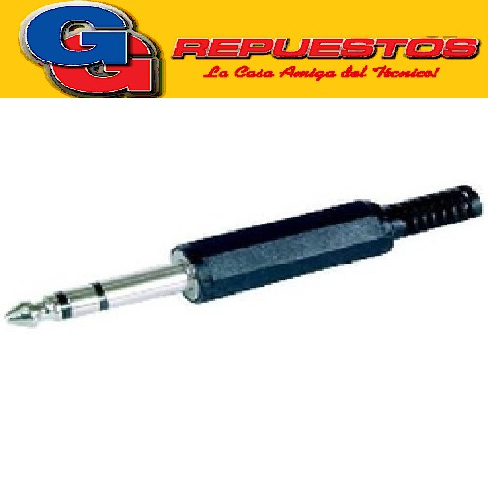FICHA PLUG 6,3 ESTEREO JL11030 (3514) PLASTICA