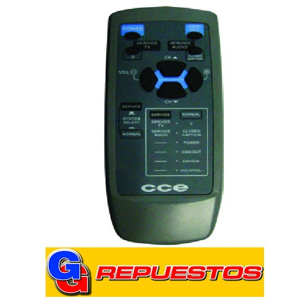 CONTROL REMOTO TV CCE (2968)