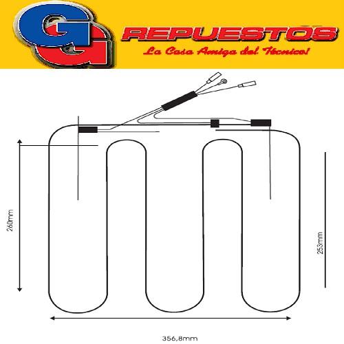 RESISTENCIA DE ALUMINIO HELADERA TIVOLI/AURORA 350-0304 220V 24.2W