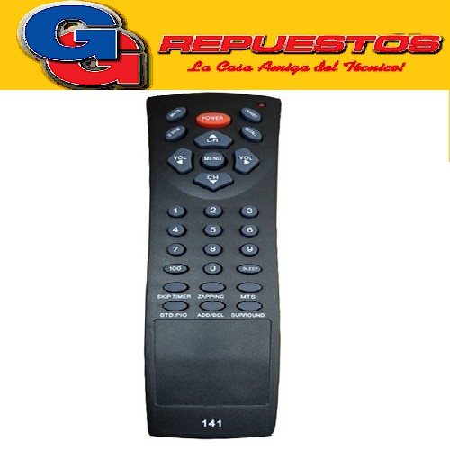 CONTROL REMOTO CROWN MUSTANG ZAPPING DEWO 2985 CRODE