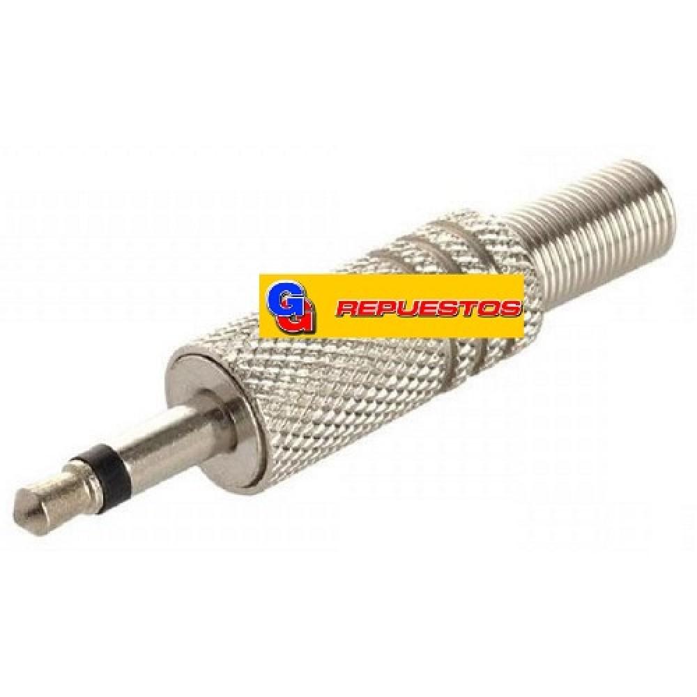 FICHA PLUG MONO 3.5mm METALICO