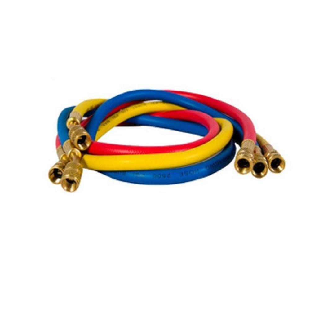 JUEGO MANGUERAS MANIFOLD 3 X 90cm-R410A-BlueStar MANIFOOL