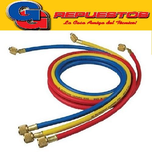 JUEGO MANGUERAS MANIFOLD 3 X 150cm-R410A-BlueStar MANIFOOL