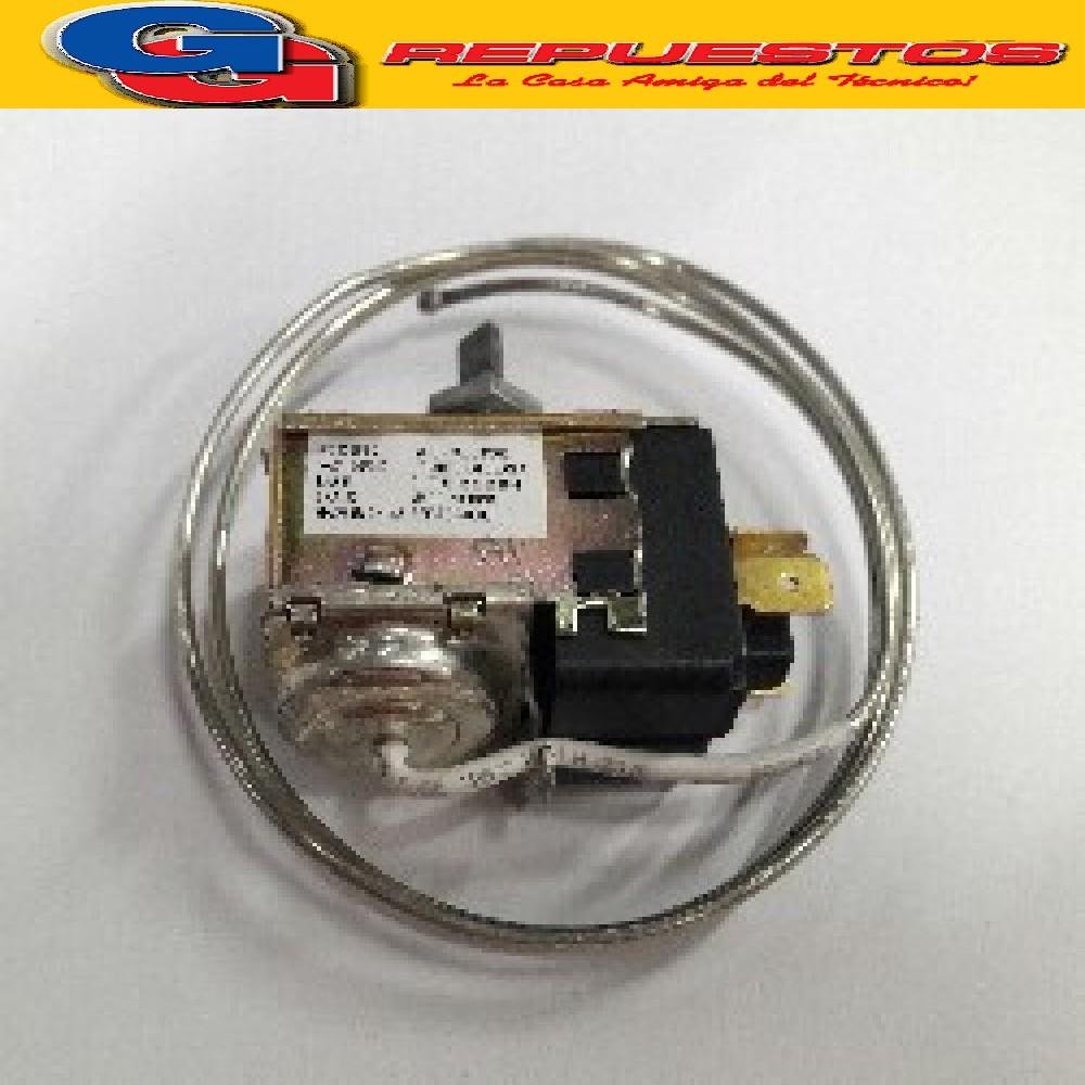 TERMOSTATO HELADERA BlueStar-RC 23669-2S Co.cte.PHILIPS (+4.7-12.1_-25.5) 3 CONTACTOS MEDIA CAÑA C/TUERCA CAPILAR 90CM