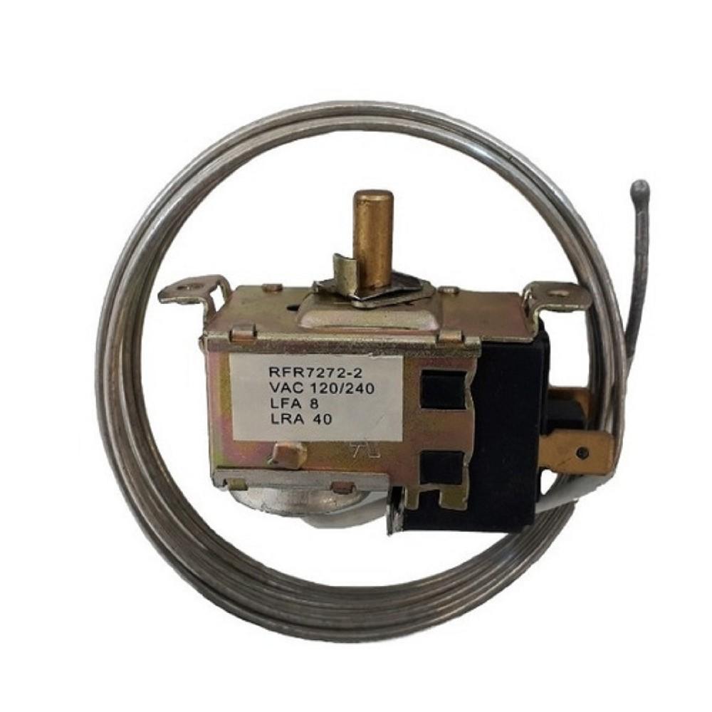 TERMOSTATO BlueStar- RFR7272-4S 2 CONTACTOS EJE REDONDO COLUMBIA DUALES (FREEZER O ENFRIADOR DE BOTELLAS) (+8.8+3.9_-6.2-13.8_-17-28) CAP 1.8