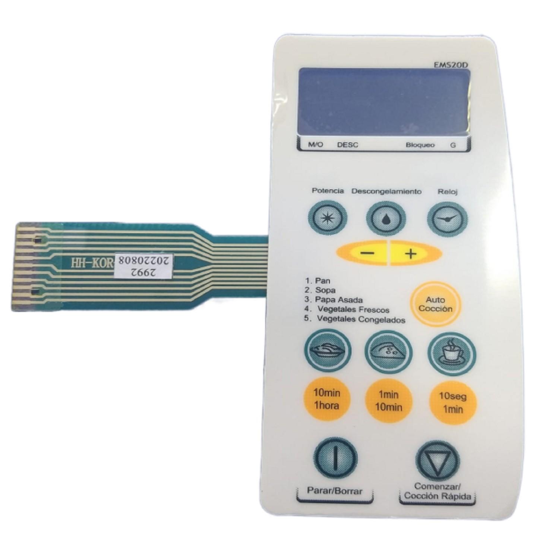 TECLADO MICROONDAS MD119 ESLABON DE LUJO EMS20D