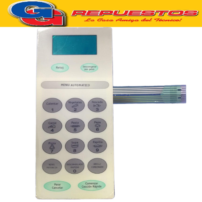 TECLADO MICROONDAS MD206 PHILCO MPD5121 3325