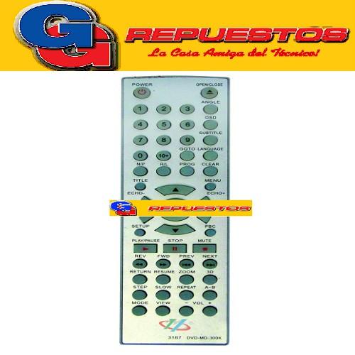 CONTROL REMOTO DVD VARIOS 3187