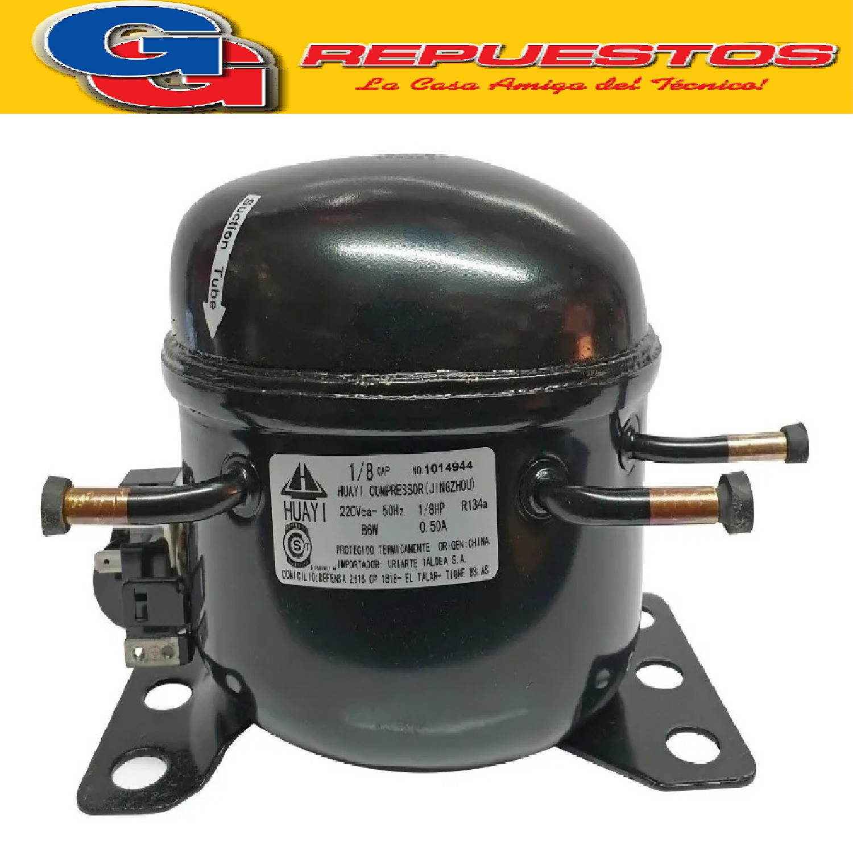 MOTOCOMPRESOR HUAYI 1/8 HP R134 B38HYD